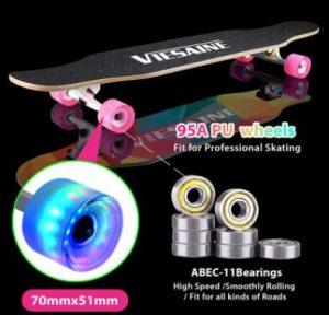 PHOEROS Longboard Skateboard, 41 Inch Complete Longboard Cruiser Skateboard