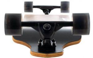 Retrospec Tidal 41-inch Drop-Down Longboard Skateboard wheels