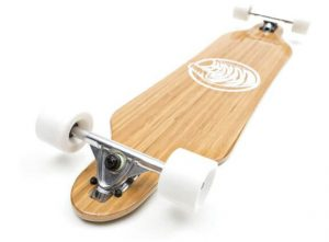 White Wave Bamboo Longboard Skateboard