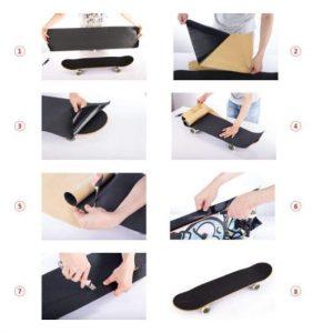 "9"" x 33"" Clear Skateboard Grip Tape Sheet 2 Pack, ZUEXT Bubble Free Waterproof Scooter Grip Tape, Longboard Griptape, Sandpaper for Rollerboard, Stairs, Gun, Pedal, Pistol, Wheelchair, Steps (84x23cm)"