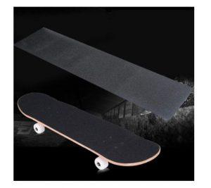 Bestkiy 2 Sheet Skateboard Grip Tape 33x9 inch Black, Waterproof and Bubble Free Longboard Scooter Deck Griptape with Adhesive,Anti Slip Abrasive Paper Grip...
