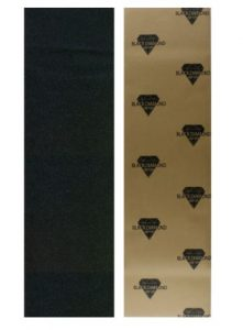 "Black Diamond Longboard Skateboard Grip Tape Sheet 10"" x 48"" Black"