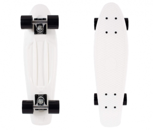 "Retrospec Quip Skateboard 22.5"" Classic Retro Plastic Cruiser Complete Skateboard"