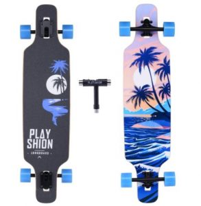 Playshion Freeride Freestyle Drop Through Longboard