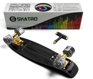 Skatro Mini Cruiser Skateboard.