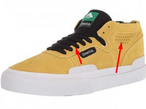 Ventilation on shoes